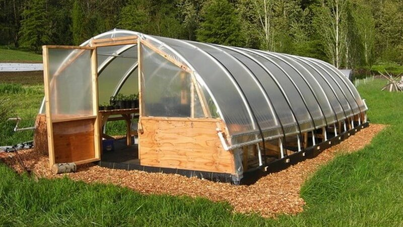 how to build a hoop house greenhouse